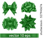 Set Of Green Bows.vector...