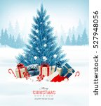 holiday background with a blue... | Shutterstock .eps vector #527948056