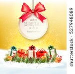 christmas presents with a gift... | Shutterstock .eps vector #527948089