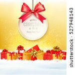 christmas presents with a gift... | Shutterstock .eps vector #527948143