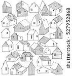 houses village wooden buildings ... | Shutterstock .eps vector #527952868