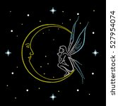 Fairy Sits On The Moon. Dial...