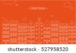 linear houses amsterdam. bright ... | Shutterstock .eps vector #527958520