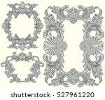 victorian baroque floral... | Shutterstock .eps vector #527961220