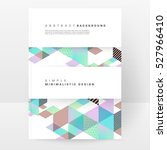 geometric background template... | Shutterstock .eps vector #527966410
