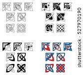 elements of design in celtic... | Shutterstock .eps vector #527970190
