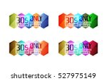 vector special offer stickers... | Shutterstock .eps vector #527975149