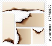 collection of burnt paper...   Shutterstock .eps vector #527980870