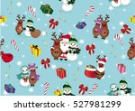 christmas and new year's... | Shutterstock .eps vector #527981299