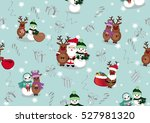 christmas and new year's... | Shutterstock .eps vector #527981320