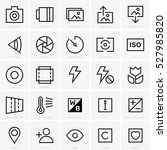 photo site icons | Shutterstock .eps vector #527985820
