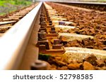 View Of The Railway Track On A...