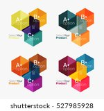 set of infographic templates... | Shutterstock .eps vector #527985928