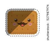 delicious cookie cartoon icon... | Shutterstock .eps vector #527987974