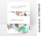 geometric background template...   Shutterstock .eps vector #527988433