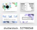 geometric background template... | Shutterstock .eps vector #527988568
