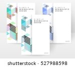 geometric background template... | Shutterstock .eps vector #527988598