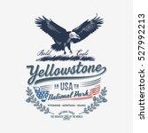 bald eagle  national park... | Shutterstock .eps vector #527992213