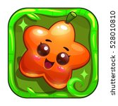 funny app icon with cute orange ...