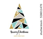 merry christmas and happy new... | Shutterstock .eps vector #528011470