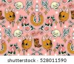 seamless western pattern. set... | Shutterstock .eps vector #528011590