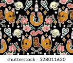 seamless western pattern. set... | Shutterstock .eps vector #528011620