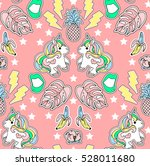 seamless fashion pattern. set... | Shutterstock .eps vector #528011680