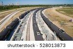 Tank Cars Along Railroad At...