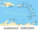 lesser antilles political map.... | Shutterstock .eps vector #528015664