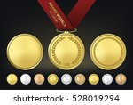 vector gold  silver and bronze... | Shutterstock .eps vector #528019294