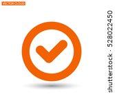 icon of check box icon vector... | Shutterstock .eps vector #528022450