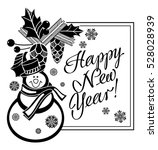 holiday label with funny... | Shutterstock .eps vector #528028939
