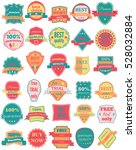 set of thirty badges with... | Shutterstock . vector #528032884