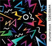 80's pattern  geometric... | Shutterstock .eps vector #528038644