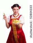 german bavarian girl with a... | Shutterstock . vector #52804333