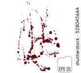 set of various blood or paint... | Shutterstock .eps vector #528045664
