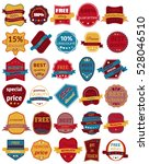 set of thirty badges with... | Shutterstock . vector #528046510