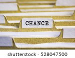 Small photo of Chance word on card index paper