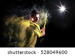 tennis player sport portrait... | Shutterstock . vector #528049600