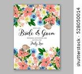 wedding invitation floral...   Shutterstock .eps vector #528050014