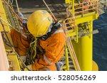 man working overboard. abseiler ...   Shutterstock . vector #528056269