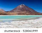 laguna verde is a stunning... | Shutterstock . vector #528061999