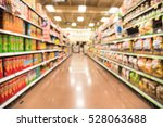 blurred image of snacks and... | Shutterstock . vector #528063688