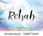 """the word """"rehab"""" painted in... 