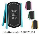 business signs  chalk board... | Shutterstock .eps vector #528075154