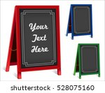 business signs  chalk board... | Shutterstock .eps vector #528075160