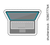 laptop computer isolated icon | Shutterstock .eps vector #528077764