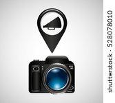 digital photo camera megaphone... | Shutterstock .eps vector #528078010