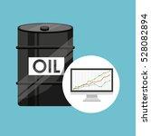 barrel oil concept finance... | Shutterstock .eps vector #528082894