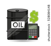barrel oil concept calculator... | Shutterstock .eps vector #528084148